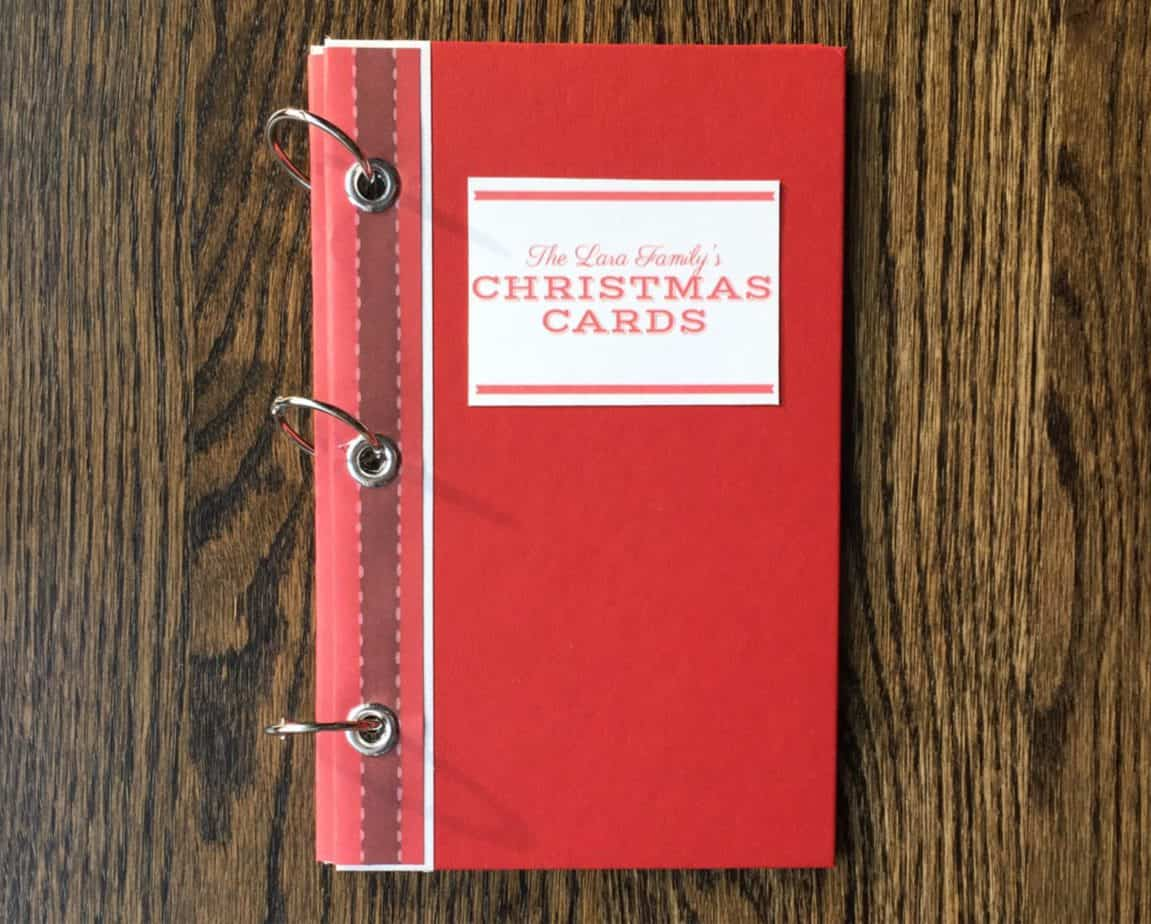 Hardcover Christmas Card Book