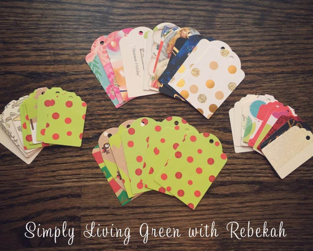 Upcycle your greeting cards into gift tags