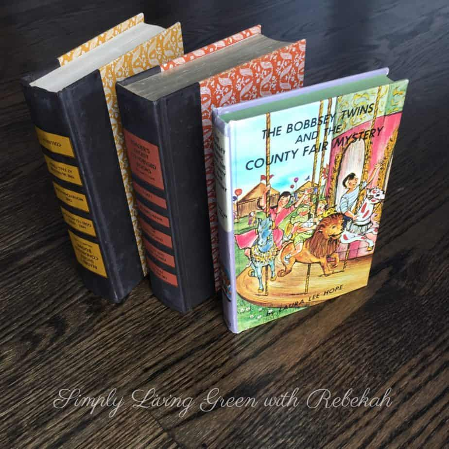 Select a vintage book to turn into your journal.