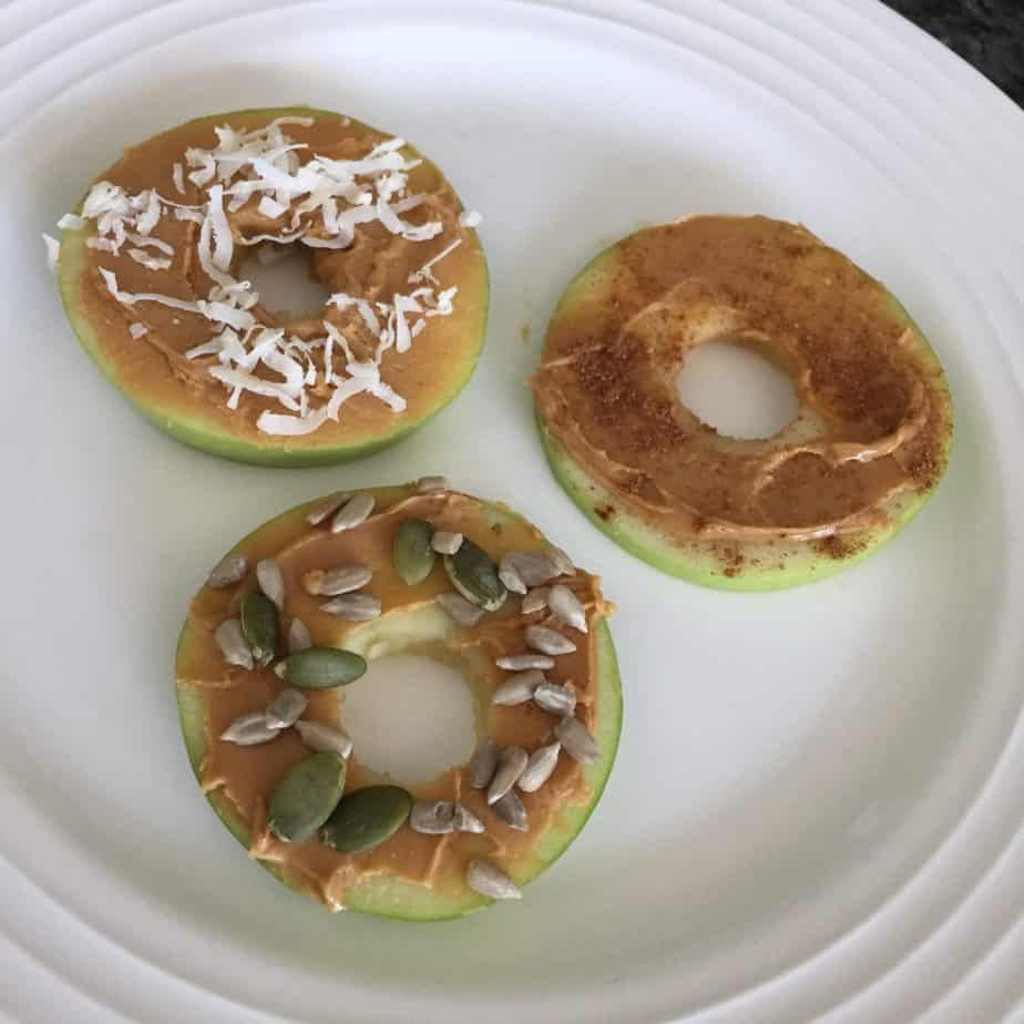 "apple ""doughnuts"" healthy snack for kids"