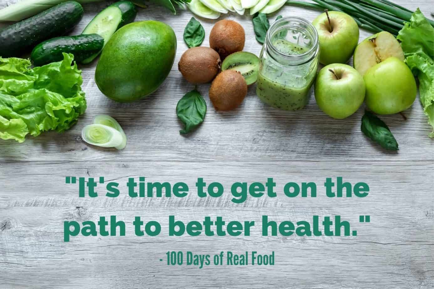 clean eating blog - 100 Days of Real Food