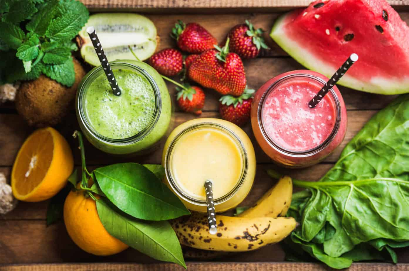 smoothies and fruit