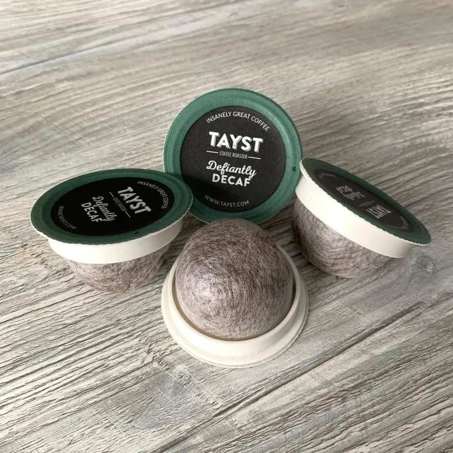 Low waste kitchen swaps - Tayst Compostable K cups