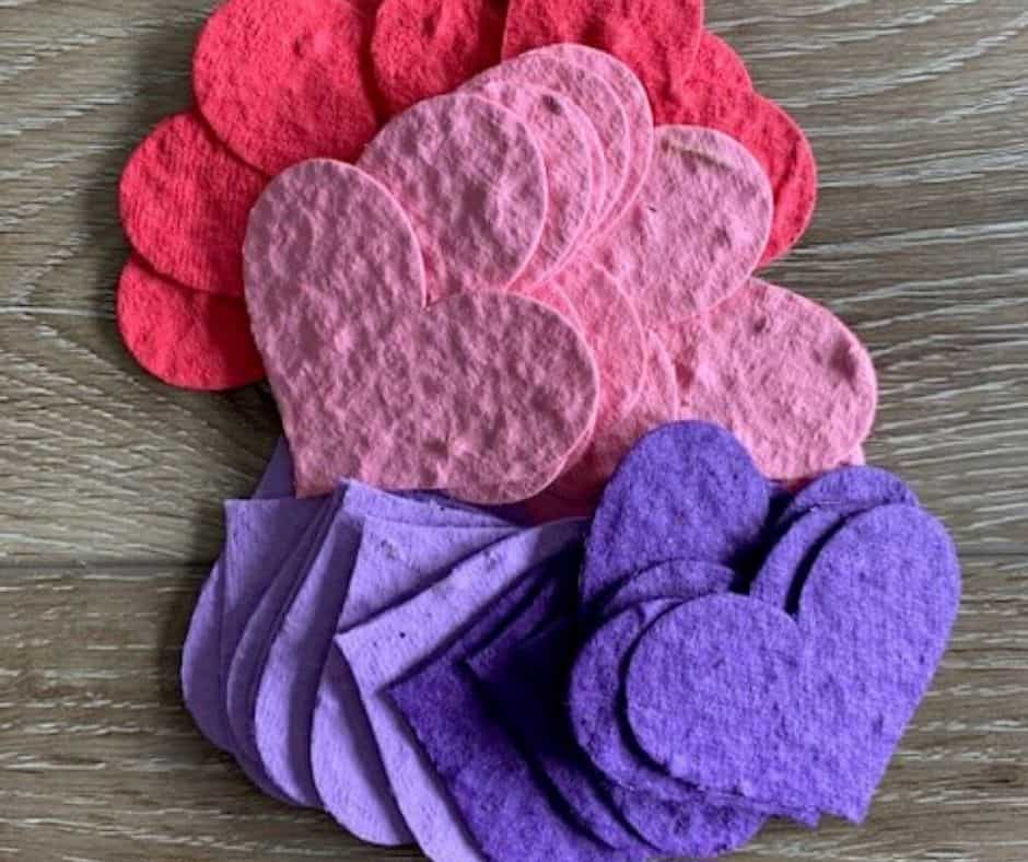 seed paper hearts