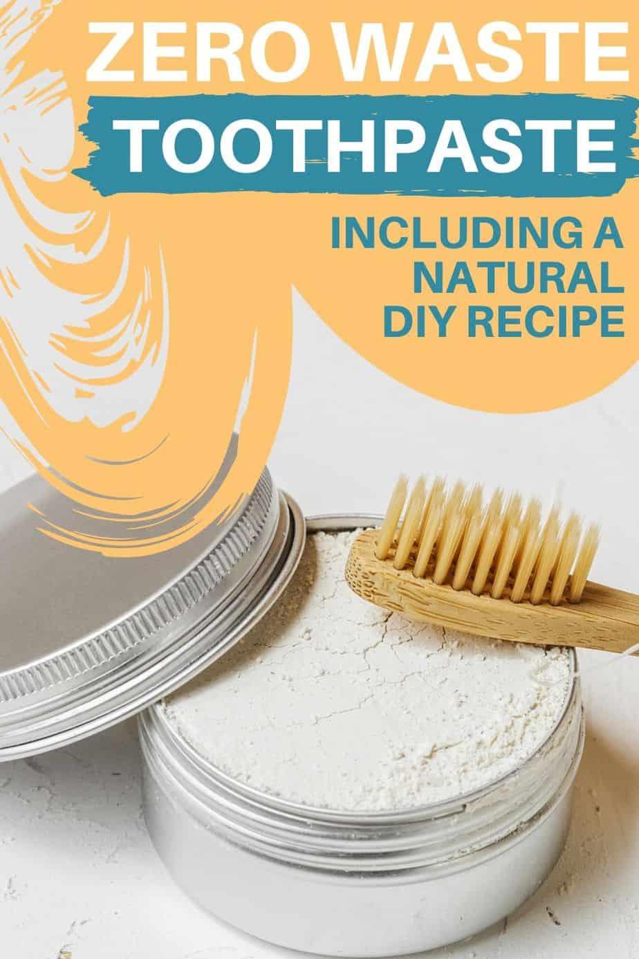 zero waste toothpaste - Pinterest image