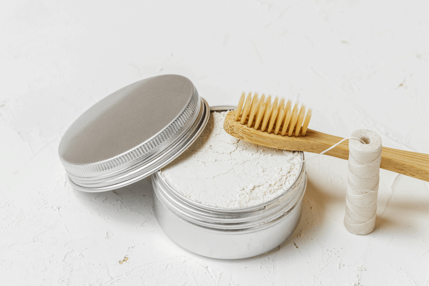 zero waste toothpaste and toothbrush
