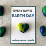 earth day recycled crayons