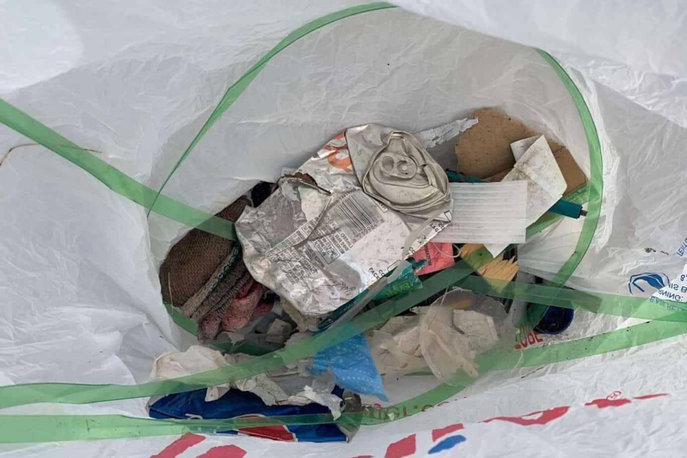 litter from neighborhood cleanup