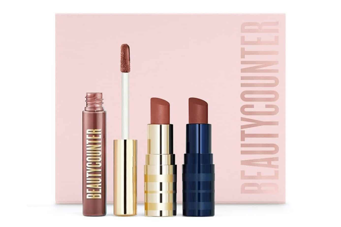Beautycounter Rosewood Lip Trio