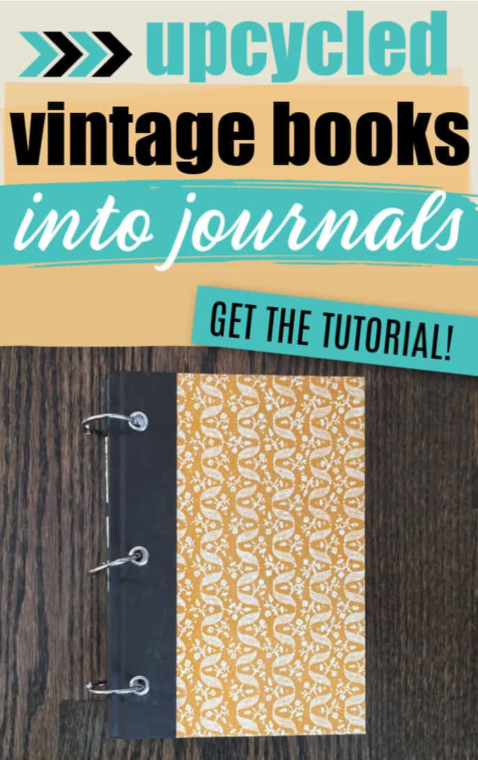 Upcycle Books into Journals _ Pinterest image
