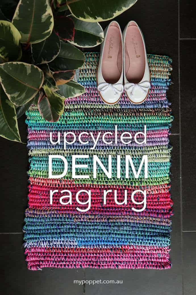 Upcycled Denim Rag Rug