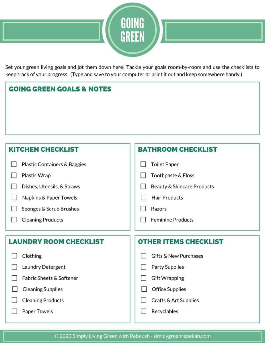 Going Green checklist