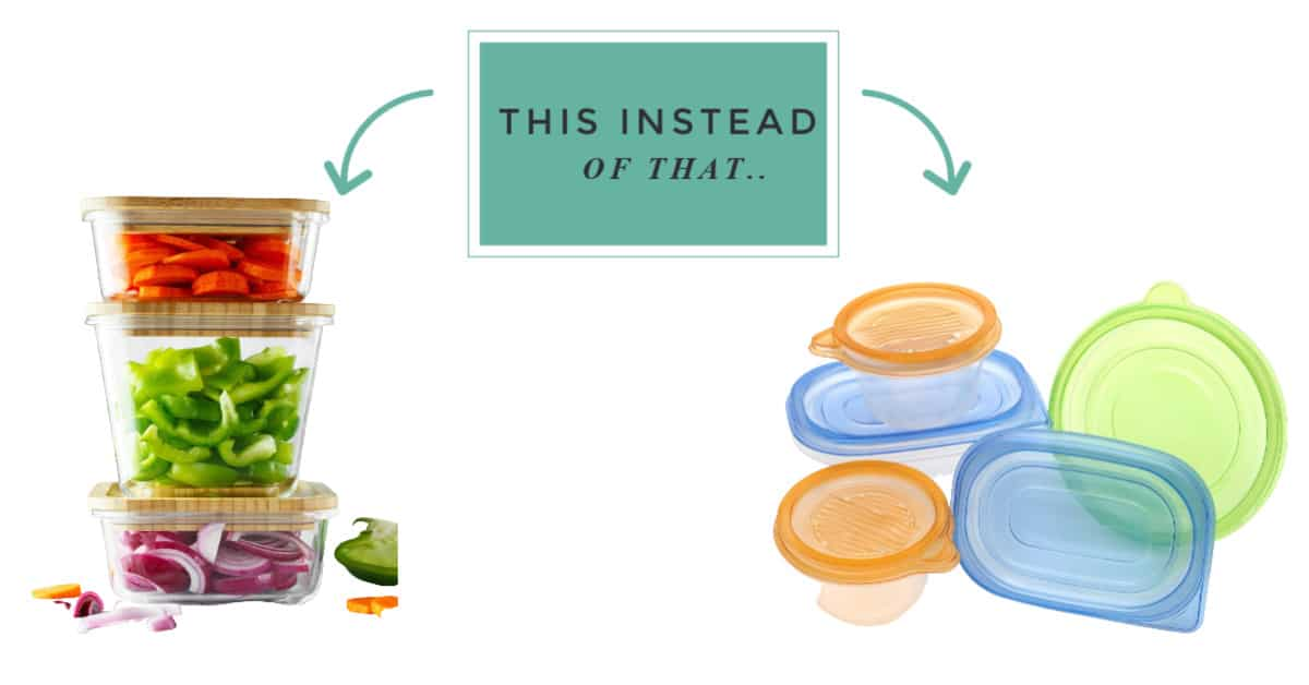zero waste swaps for plastic storage containers