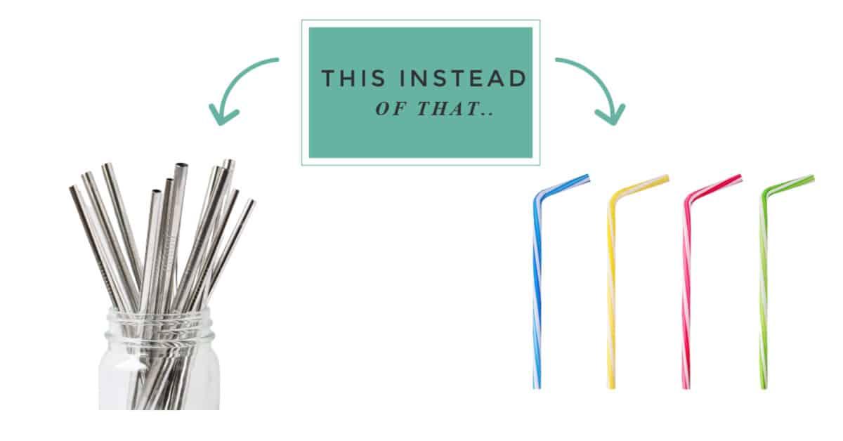 zero waste swaps for plastic straws