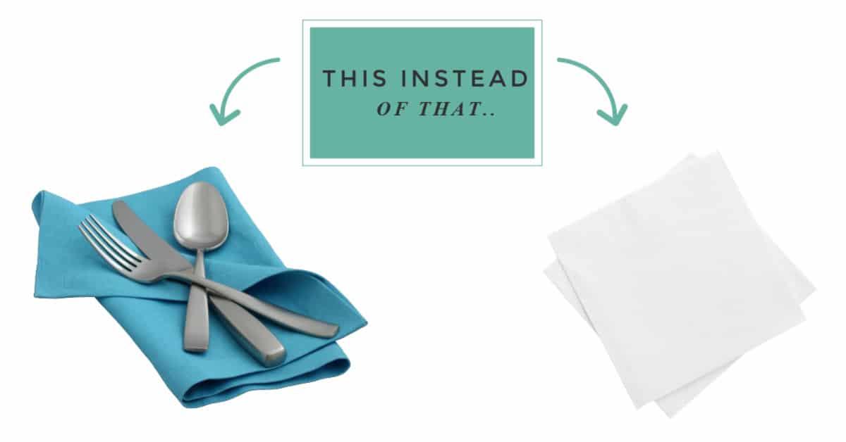 zero waste swaps for paper napkins