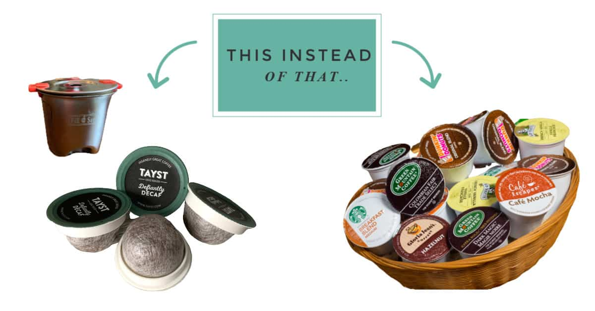 zero waste swaps for coffee k-cups