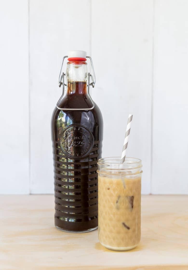 zero waste iced coffee