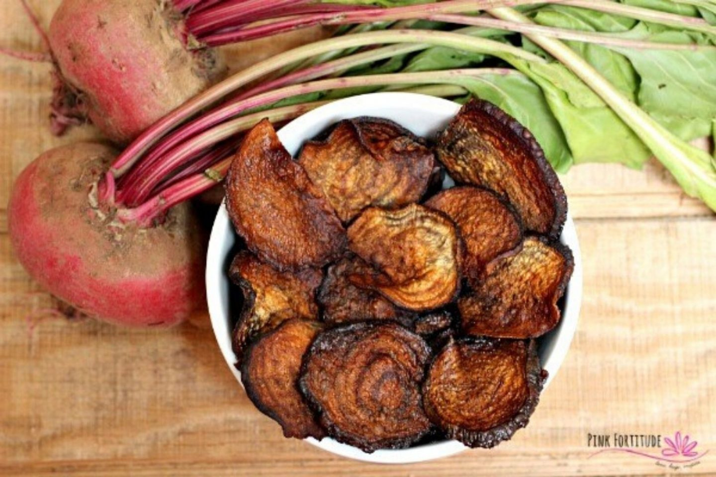 oven baked beet chips - plastic free snacks