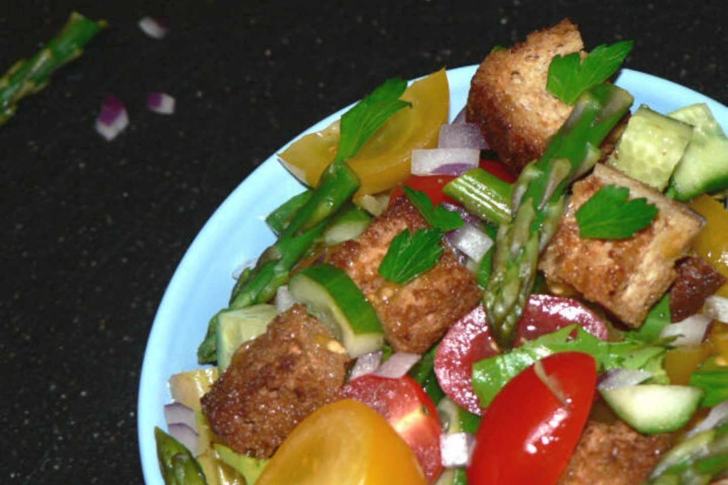 Panzanella Salad Recipe With Asparagus