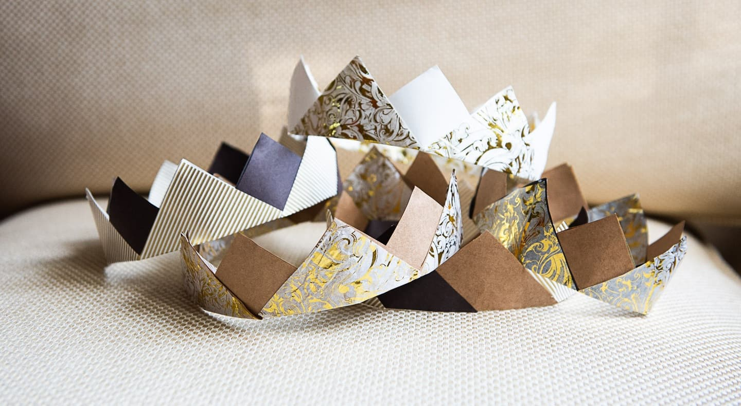 upcycled paper crowns
