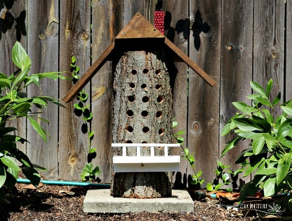 DIY Upcycled Bee House
