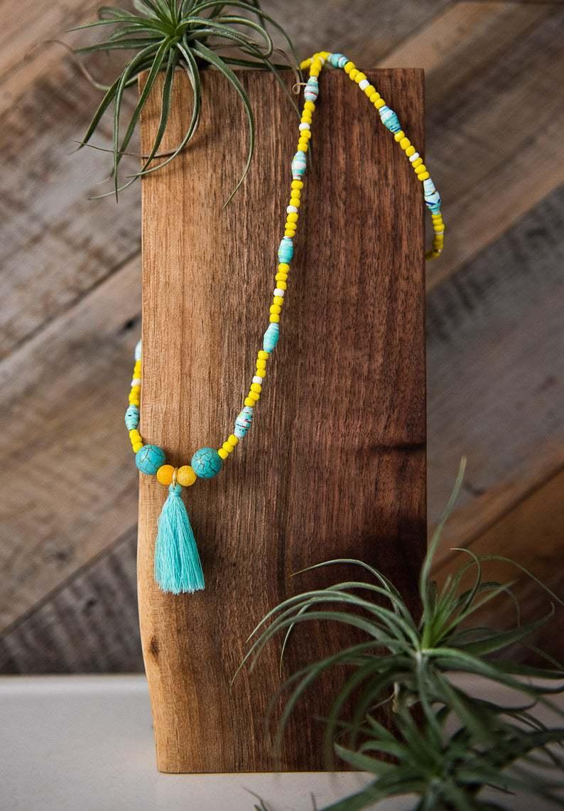 Boho Paper Bead Necklaces